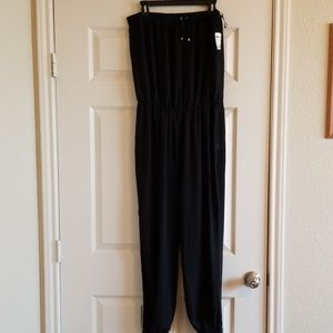 Sheer Strapless Jumpsuit